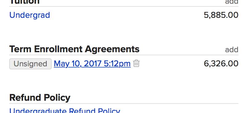 Using Enrollment Agreements Populi Knowledge Base